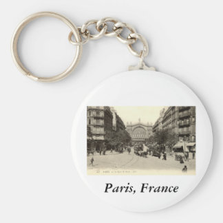 La Gare du Nord Paris, France c1905 Vintage Basic Round Button Keychain