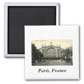 La Gare du Nord Paris, France c1905 Vintage Magnet