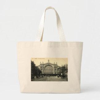 La Gare du Nord vintage de París, Francia c1905 Bolsa Tela Grande