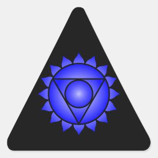 La garganta Chakra Colcomanias Triangulo Personalizadas