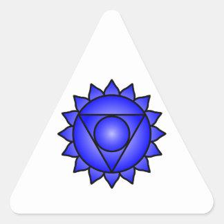 La garganta Chakra Pegatinas De Trianguladas