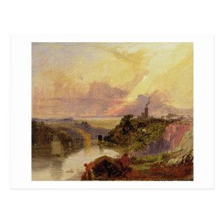 La garganta de Avon en la puesta del sol (aceite e Postales