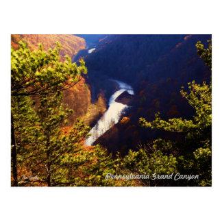 La garganta de la cala del pino pasa por alto en e tarjeta postal