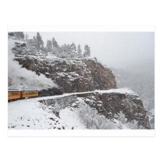 La garganta de la cascada a bordo del polar tarjetas postales