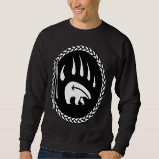 La garra de oso nativo tribal de la camiseta del sudaderas encapuchadas
