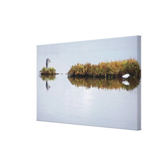 La garza y el Egret estiraron la impresión Lienzo Envuelto Para Galerías