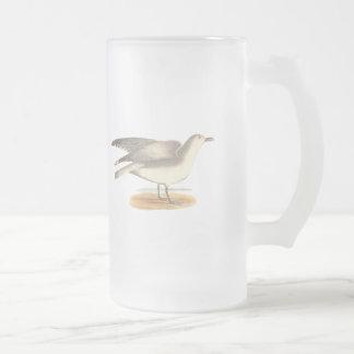 La gaviota del invierno(argentatus del Larus) Taza De Cristal