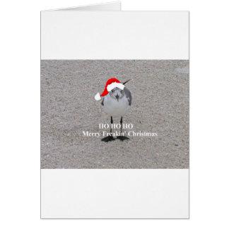 La gaviota del navidad tarjeta de felicitación