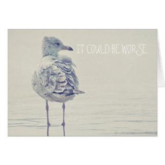 La gaviota solitaria tarjeta de felicitación