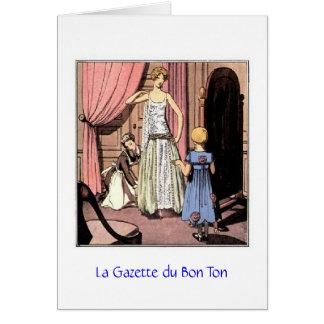 La Gazette du Bon Ton, Greeting Card