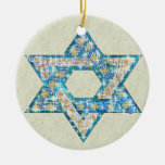 La gema adornó la estrella de David Ornamente De Reyes