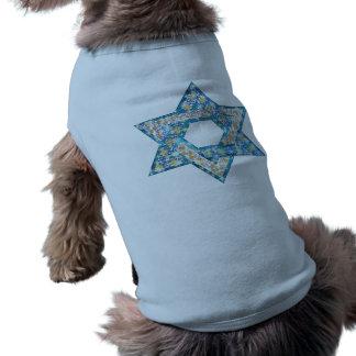 La gema adornó la estrella de David Camiseta De Mascota