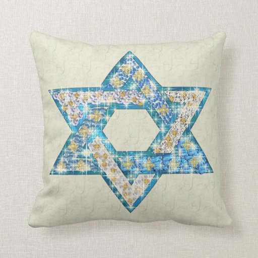 La gema dibujada ratón adornó la estrella de David Almohada