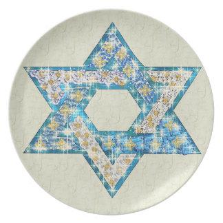 La gema dibujada ratón adornó la estrella de David Platos Para Fiestas