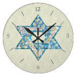 La gema dibujada ratón adornó la estrella de David Relojes De Pared