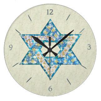 La gema dibujada ratón adornó la estrella de David Reloj Redondo Grande