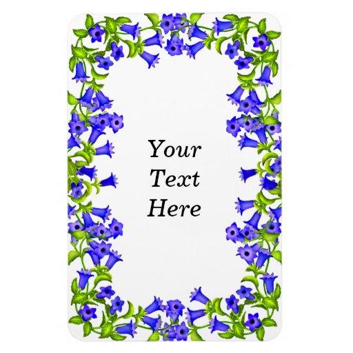 La genciana azul adaptable florece el imán