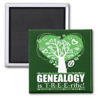 ¡La genealogía es T-R-E-E-rific! Imán De Frigorífico
