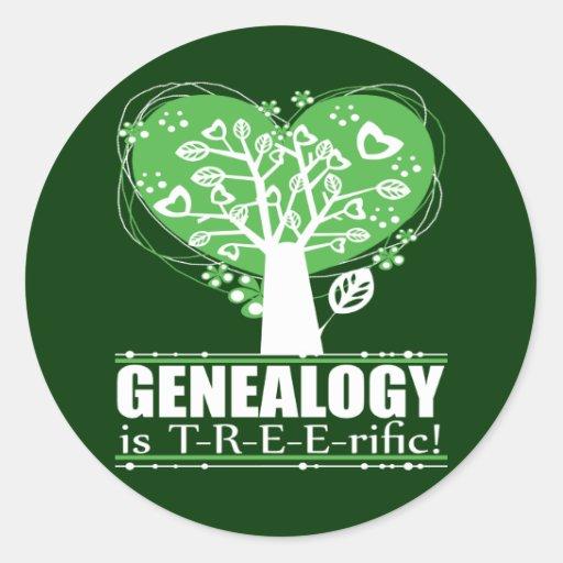 ¡La genealogía es T-R-E-E-rific! Pegatina