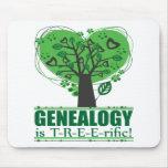 ¡La genealogía es T-R-E-E-rific! Tapetes De Ratones