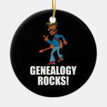 La genealogía oscila el ornamento adorno de navidad