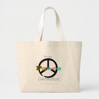 La generación de la paz bolsa tela grande