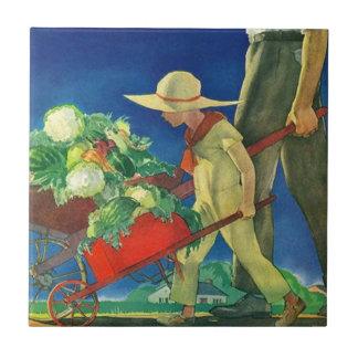 La generosidad de la cosecha de la granja de la azulejo cuadrado pequeño
