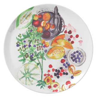 La generosidad de la naturaleza plato de cena