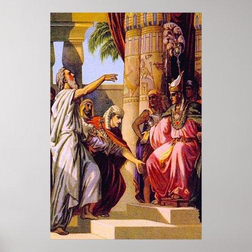 La génesis 47 Jacob bendice el poster del Pharaoh Póster