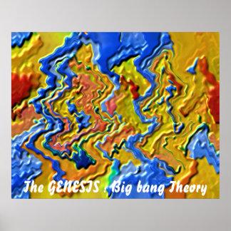 La GÉNESIS: Teoría de explosión grande Póster