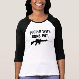 La gente con los armas come - la camiseta del camisas