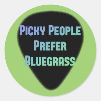 La gente criticona prefiere Bluegrass Pegatina Redonda