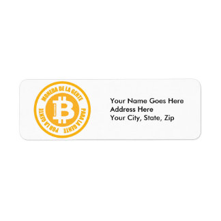 La Gente de Bitcoin Moneda De La Gente Para Gente Etiquetas De Remite
