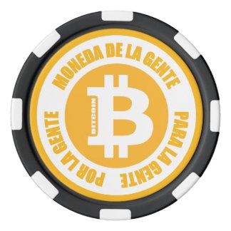 La Gente de Bitcoin Moneda De La Gente Para Gente Fichas De Póquer