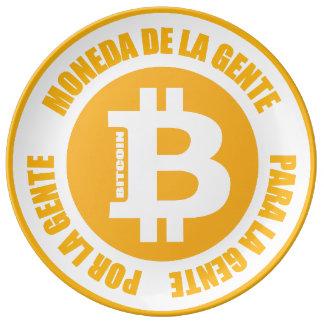 La Gente de Bitcoin Moneda De La Gente Para Gente  Platos De Cerámica