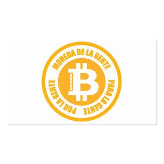 La Gente de Bitcoin Moneda De La Gente Para Gente Tarjetas De Visita