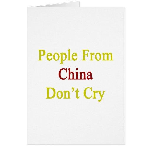 La gente de China no llora Tarjeta Pequeña
