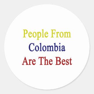 La gente de Colombia es el mejor Pegatina Redonda