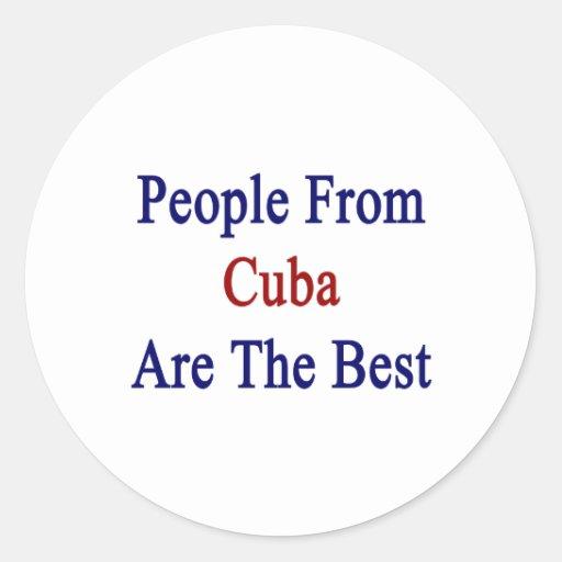 La gente de Cuba es el mejor Pegatina Redonda