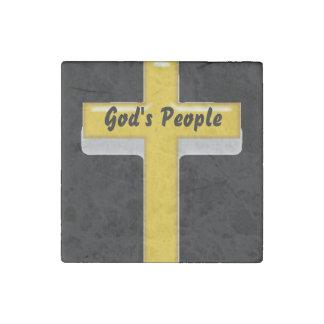 """La """"gente de dios"""" con el imán de piedra cruzado"""