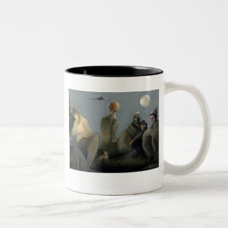 La gente de la calle Two-Tone coffee mug