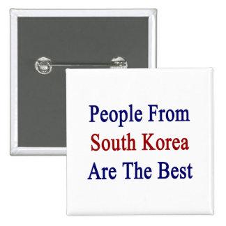 La gente de la Corea del Sur es el mejor Pins