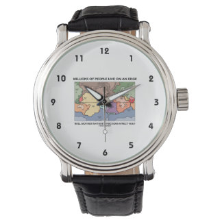 La gente de millones vive en la tectónica de relojes de pulsera