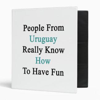 La gente de Uruguay sabe realmente divertirse