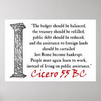 La gente debe trabajar - Cicero Póster