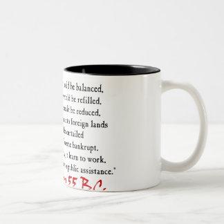 La gente debe trabajar - Cicero Tazas De Café