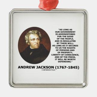 La gente del gobierno de Andrew Jackson defendiend Ornamentos De Reyes