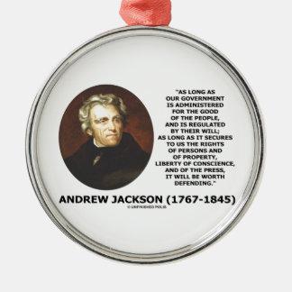 La gente del gobierno de Andrew Jackson defendiend Adorno Para Reyes