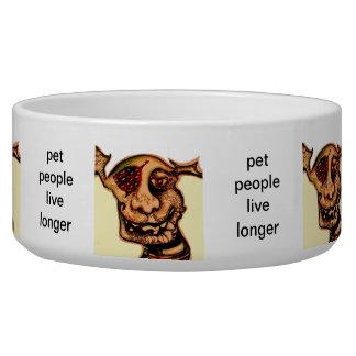 La gente del mascota vive más de largo tazones para perrros