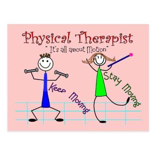 """La gente del palillo del terapeuta físico """"guarda postal"""
